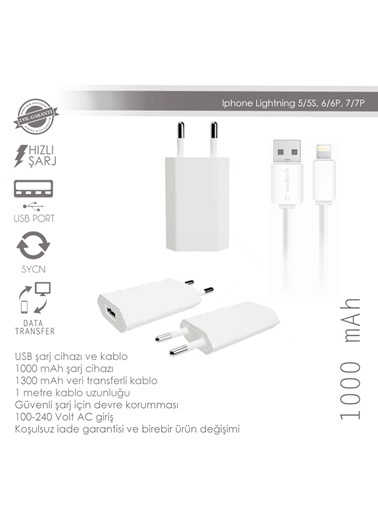 1000 Mah iPhone 5-6-7 Sarj-Soultech